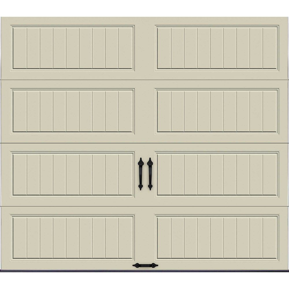 Gallery Collection 8 ft. x 7 ft. 6.5 R-Value Insulated Solid Desert Tan Garage Door