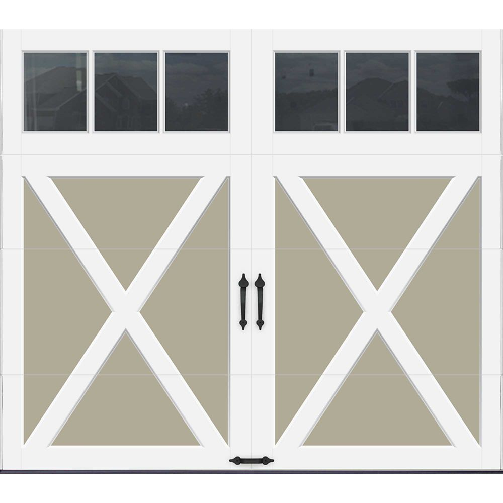 Coachman Collection 8 ft. x 7 ft. Intellicore Insulated Sandstone Garage Door with REC13 Window