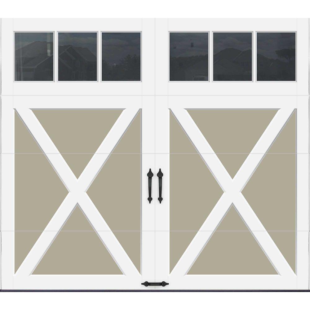Coachman Collection 8 ft. x 7 ft. Intellicore Insulated Sandstone Garage Door with REC13 Window
