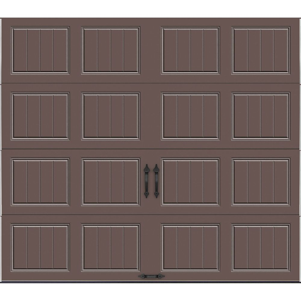 Gallery Collection 8 ft. x 7 ft. 18.4 R-Value Intellicore Insulated Solid Bronze Garage Door