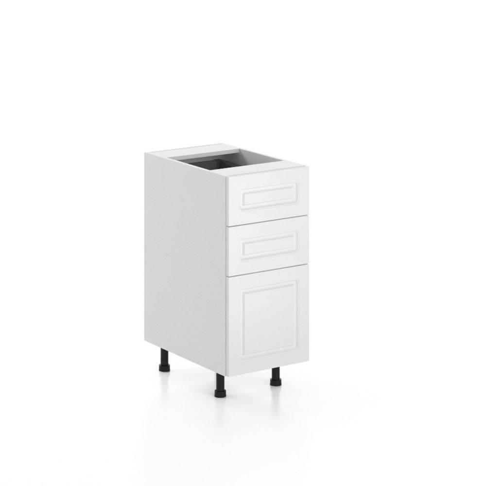 15 Inch Base Cabinet - 3 Drawers - Assembled - Lausanne