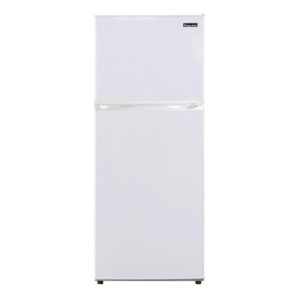 Magic Chef 9 9 Cu Ft Top Freezer Refrigerator In White