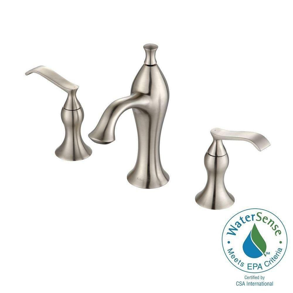 Ventus 8-inch Widespread 2-Handle Bathroom Faucet in Brushed Nickel Finish