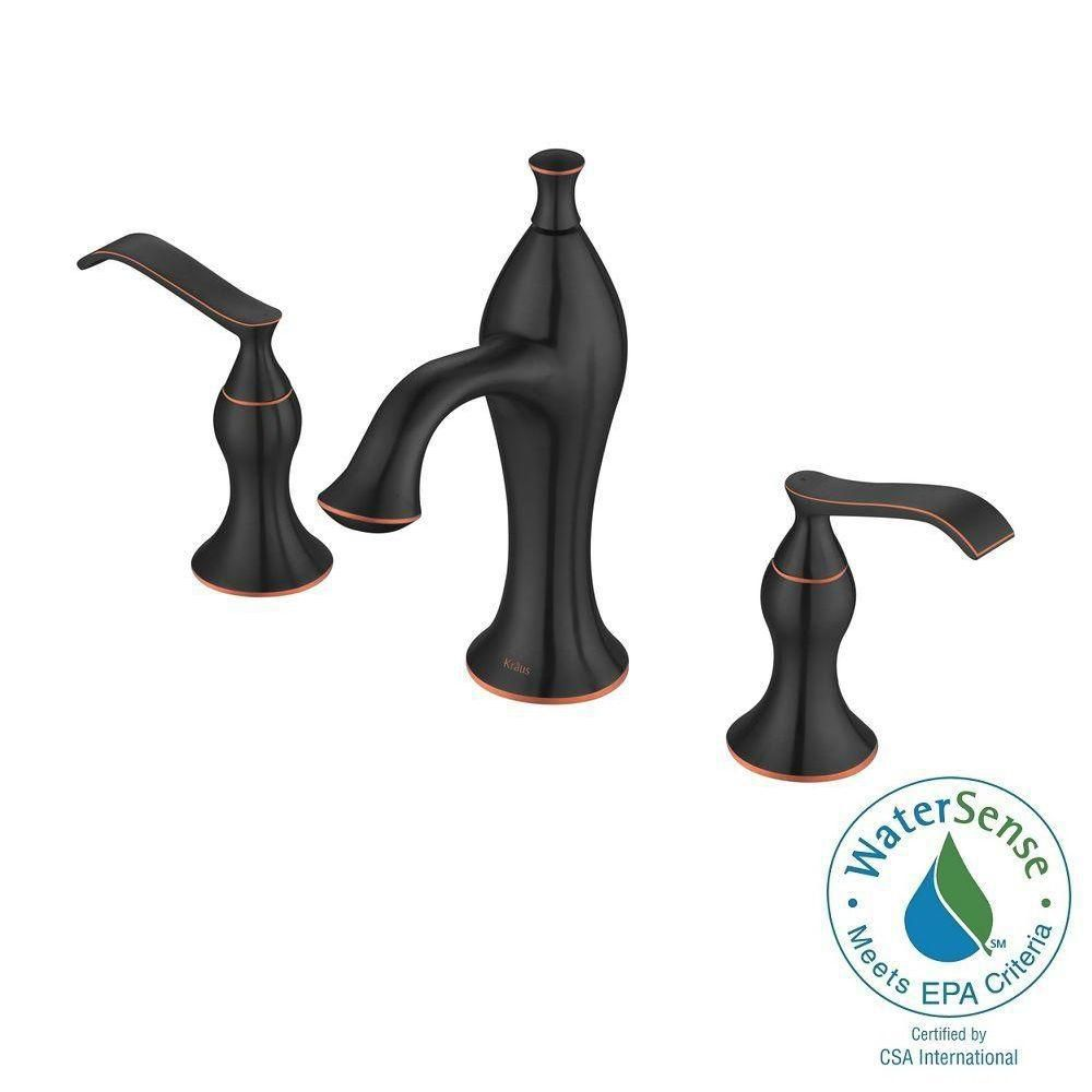 Ventus 8-inch Widespread 2-Handle Bathroom Faucet in Oil Rubbed Bronze Finish