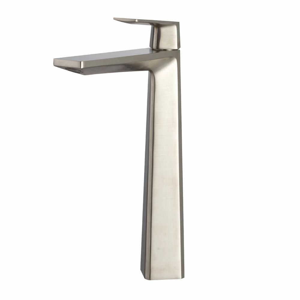 Kraus aplos single hole 1 handle high arc bathroom faucet - Single hole bathroom faucets brushed nickel ...