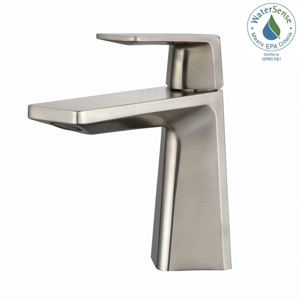 Aplos Single Lever Basin Bathroom Faucet Brushed Nickel KEF-15301BN in Canada