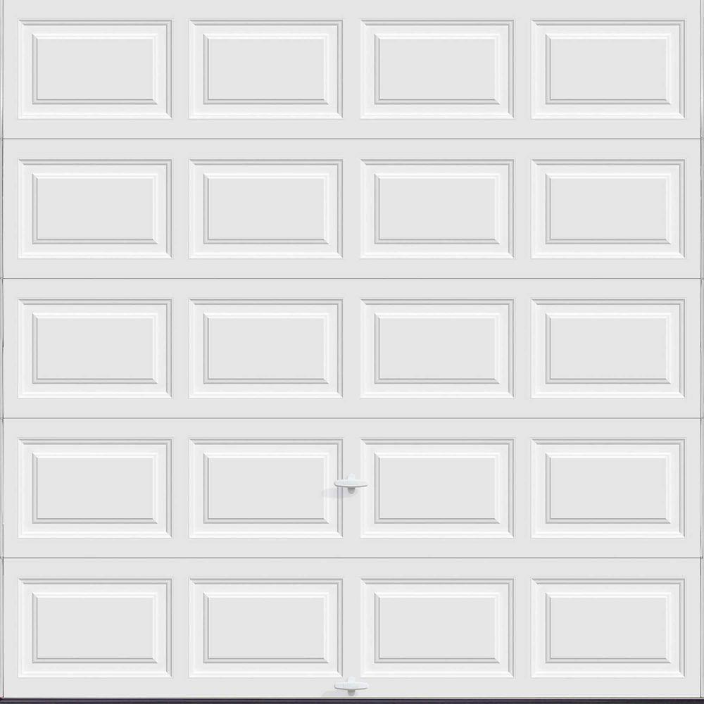 Premium Series 8 ft. x 8 ft. 18.4 R-Value Intellicore Insulated Solid White Garage Door