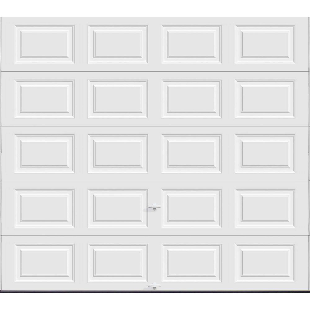 Premium Series 9 ft. x 8 ft. 18.4 R-Value Intellicore Insulated Solid White Garage Door
