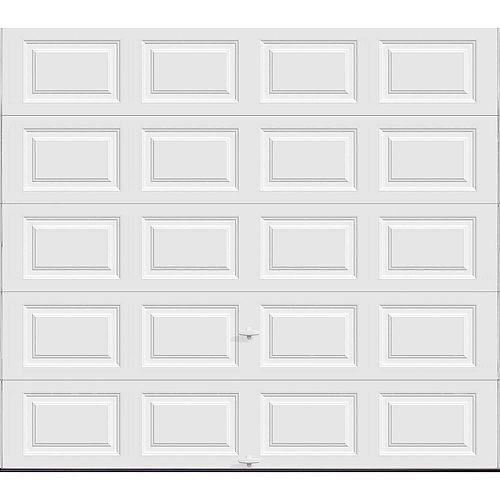 Clopay Premium Series 9 ft. x 8 ft. 18.4 R-Value Intellicore Insulated Solid White Garage Door