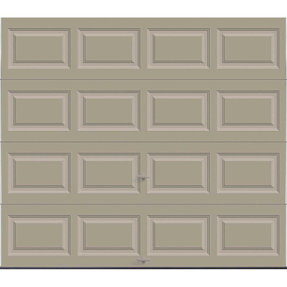 Premium Series 8 ft. x 7 ft. 18.4 R-Value Intellicore Insulated Solid Sandstone Garage Door