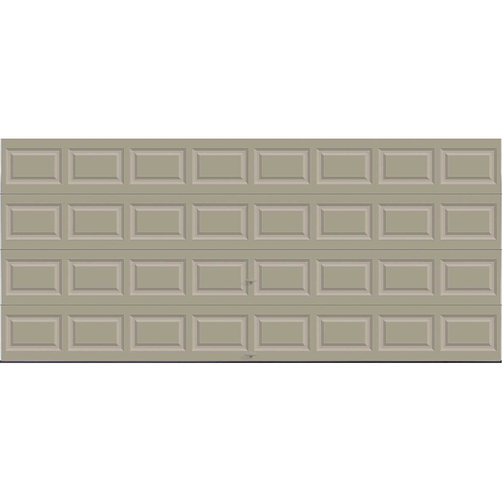 Premium Series 16 ft. x 7 ft. 18.4 R-Value Intellicore Insulated Solid Sandstone Garage Door