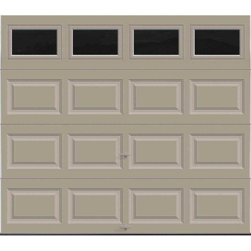 Porte de garage Série Première 8pi x 7pi Valeur R 18.4 isolée en polyuréthane Intellicore Sable...