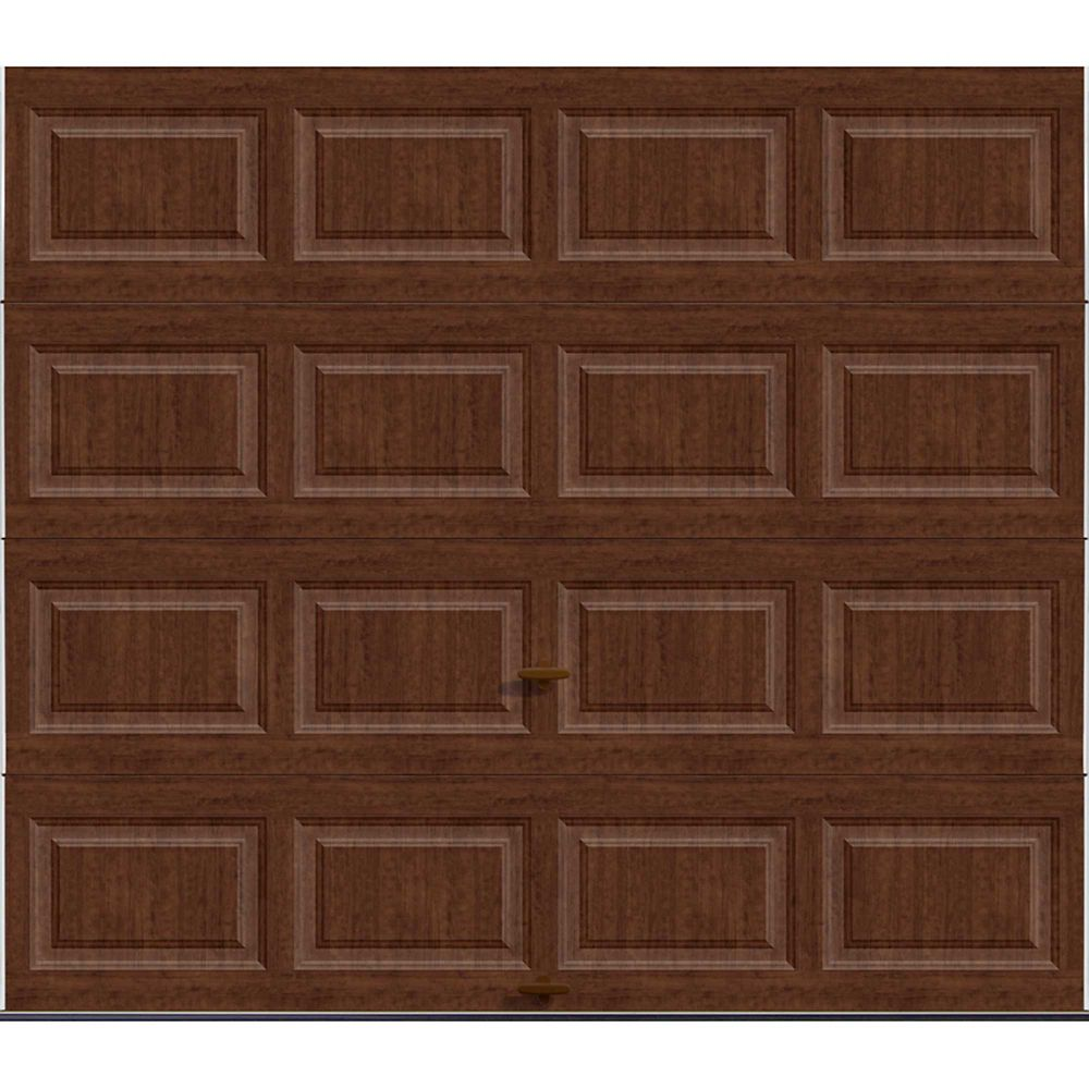 Premium Series 8 ft. x 7 ft. 18.4 R-Value Intellicore Insulated Solid Ultra-Grain Cherry Garage D...