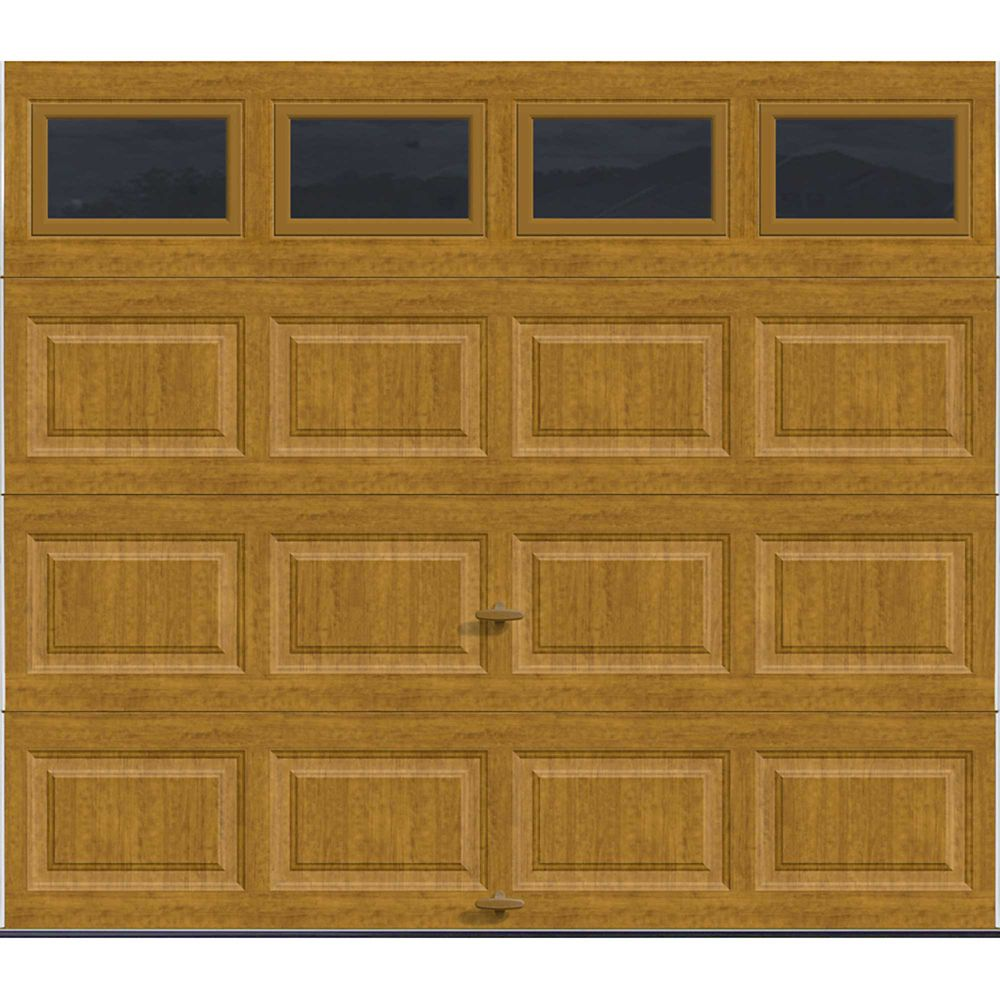 Premium Series 8 ft. x 7 ft. Intellicore Insulated Ultra-Grain Medium Garage Door with Windows