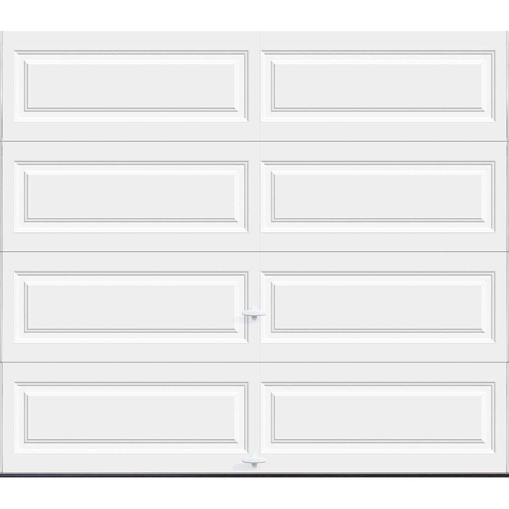Porte de garage Série Première 8pi x 7pi Valeur R 18.4 isolée en polyuréthane Intellicore Blanc...