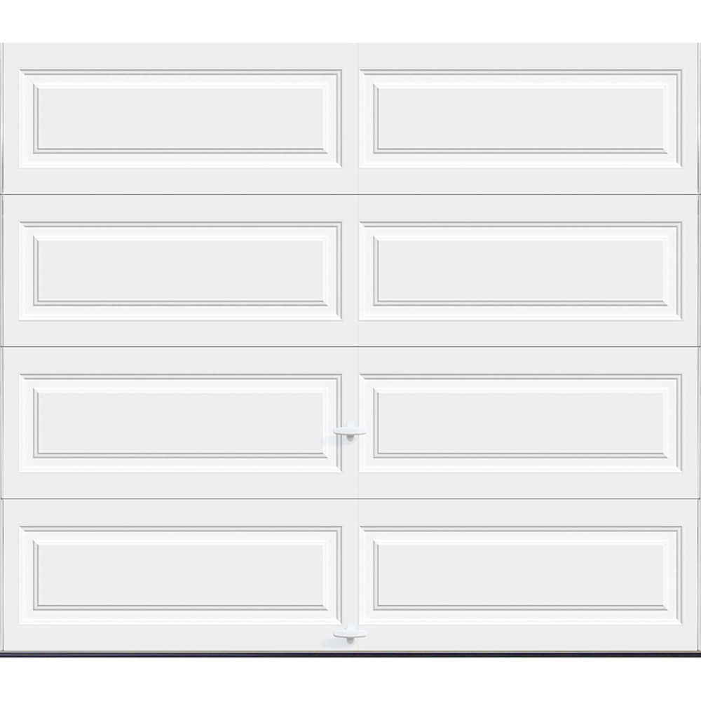 Premium Series 8 ft. x 7 ft. 18.4 R-Value Intellicore Insulated Solid White Garage Door