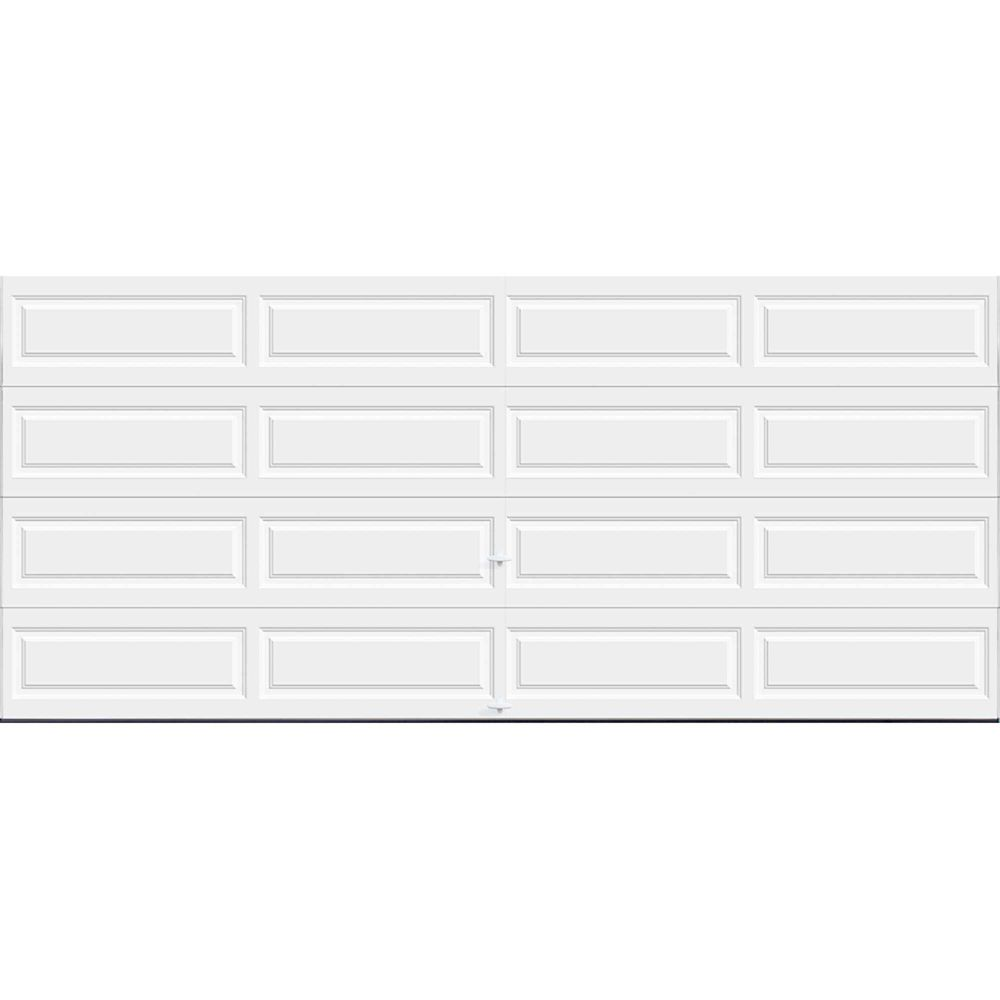 Porte de garage Série Première 16pi x 7pi Valeur R 18.4 isolée en polyuréthane Intellicore Blan...