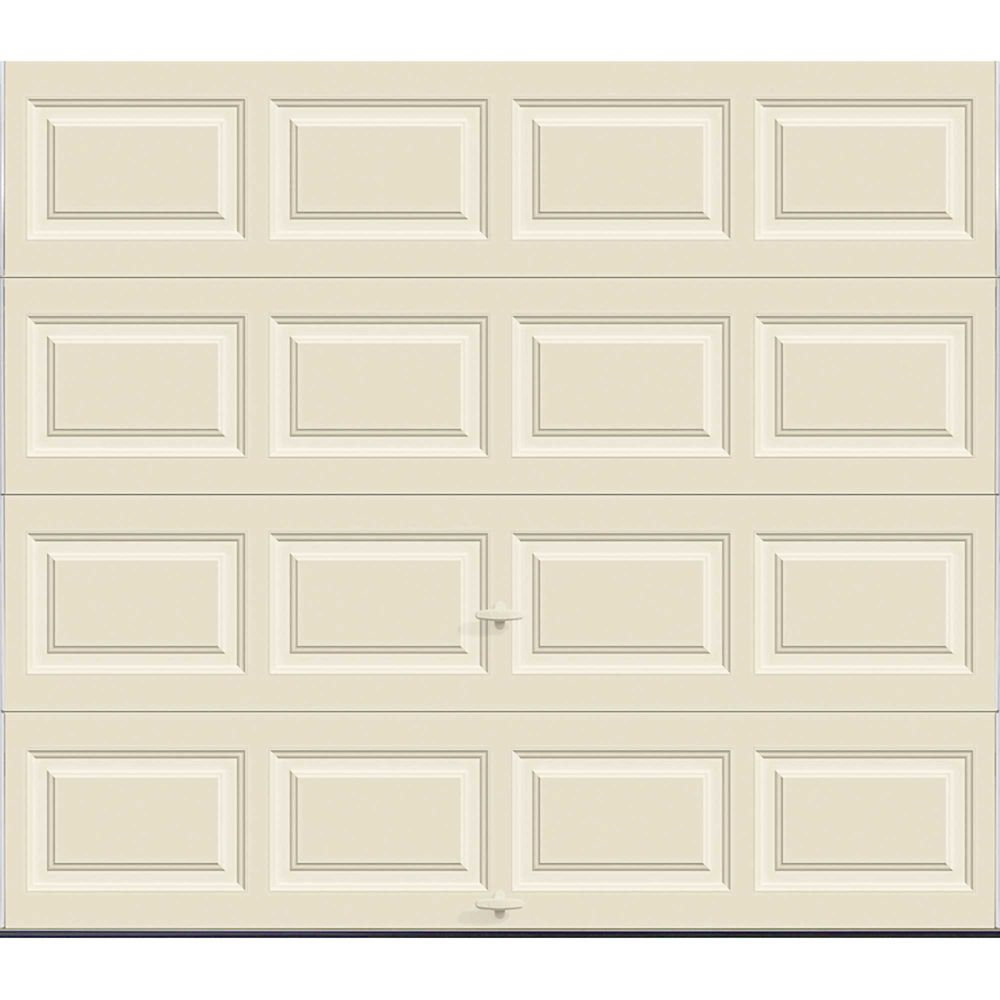Premium Series 8 ft. x 7 ft. 12.9 R-Value Intellicore Insulated Solid Almond Garage Door