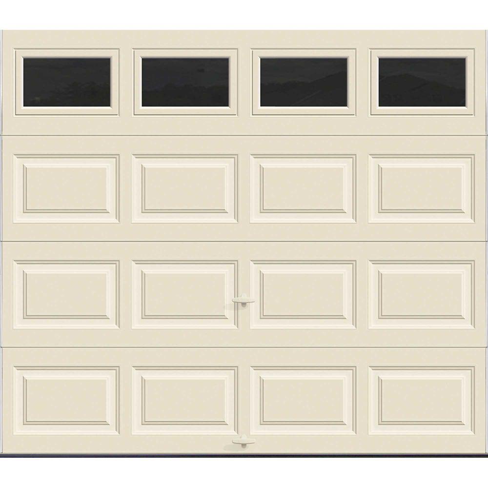 Premium Series 8 ft. x 7 ft. Intellicore Insulated Almond Garage Door with Plain Windows