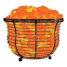 6.75-inch Ionic Crystal Natural Salt 9-11 lbs. Tall Basket Lamp