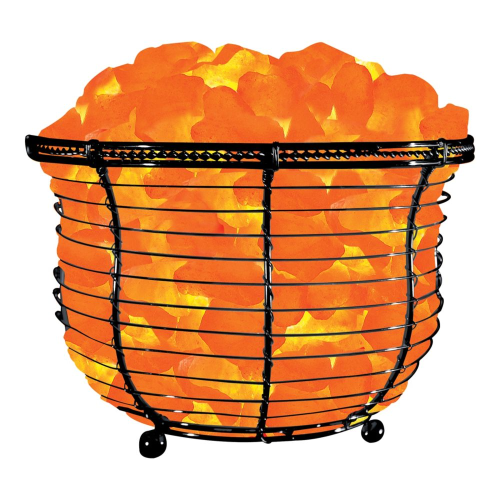 Himalayan Light 6.75-inch Ionic Crystal Natural Salt 9-11 lbs. Tall Basket Lamp