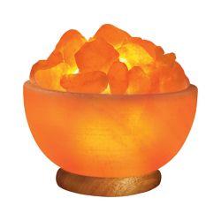 Himalayan Light Himalayan Ionic Hand Carved Salt Bowl Lamp