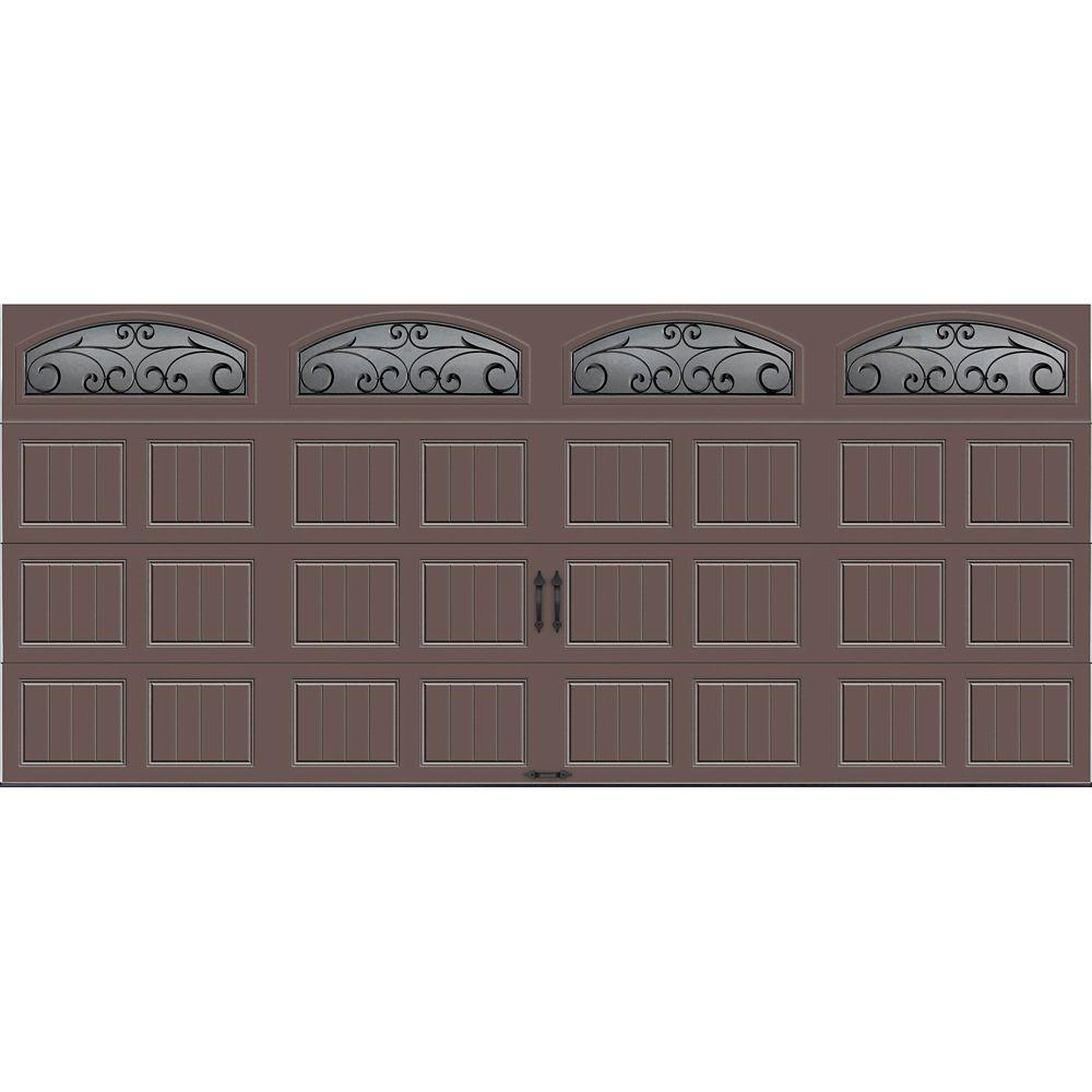 Porte de garage Collection Gallery 16 pi x 7 pi R 18.4 isolée en ployuréthane Intellicore Sable F...