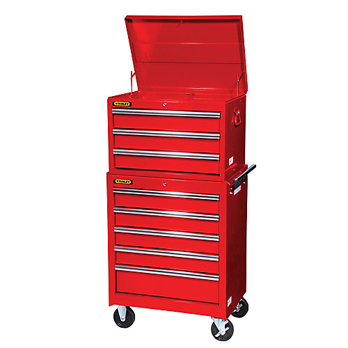 27 Inch 8 Drawer Combination Set, Red