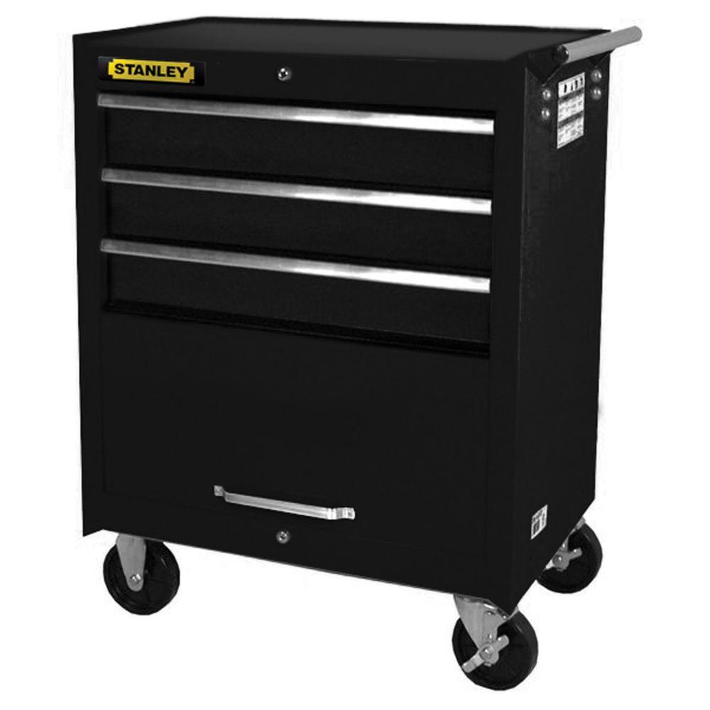 27 Inch 3 drawer, 1 door Cabinet, Black WRBP-2703BKST Canada Discount