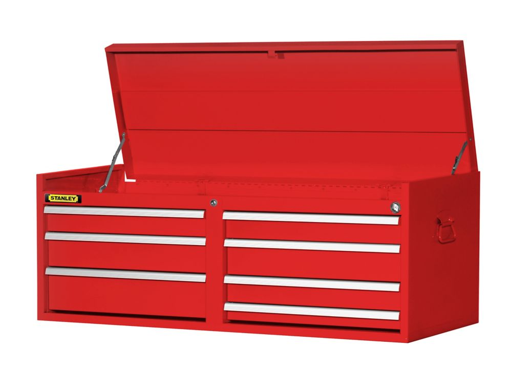 54 Inch 7 drawer Top Chest, Red