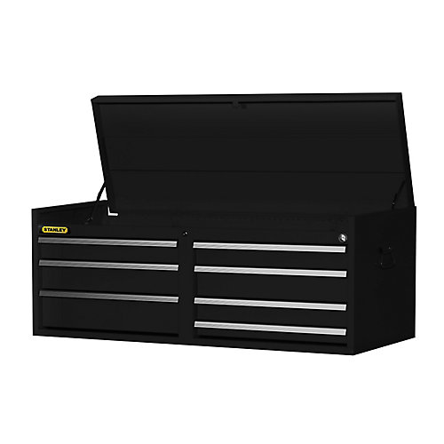 54 Inch 7 drawer Top Chest, Black