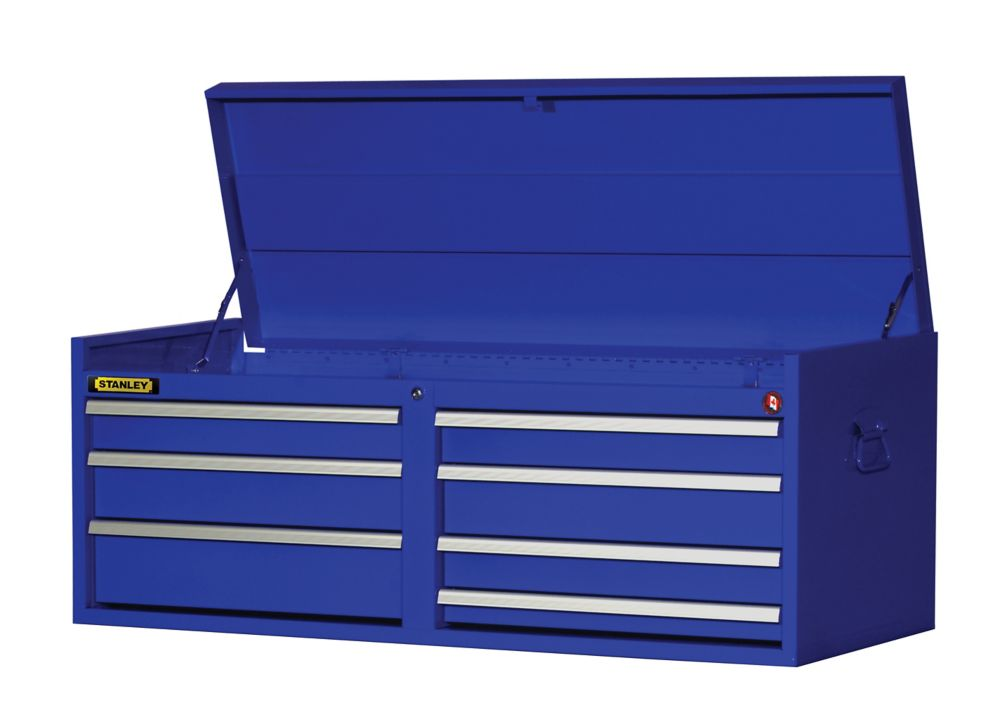54 Inch 7 drawer Top Chest, Blue