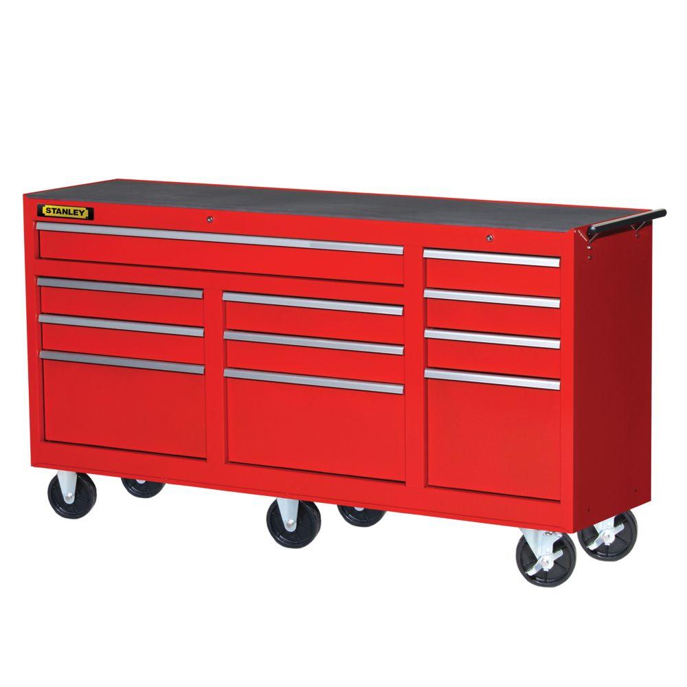 73 Inch 11 drawer cabinet, Red