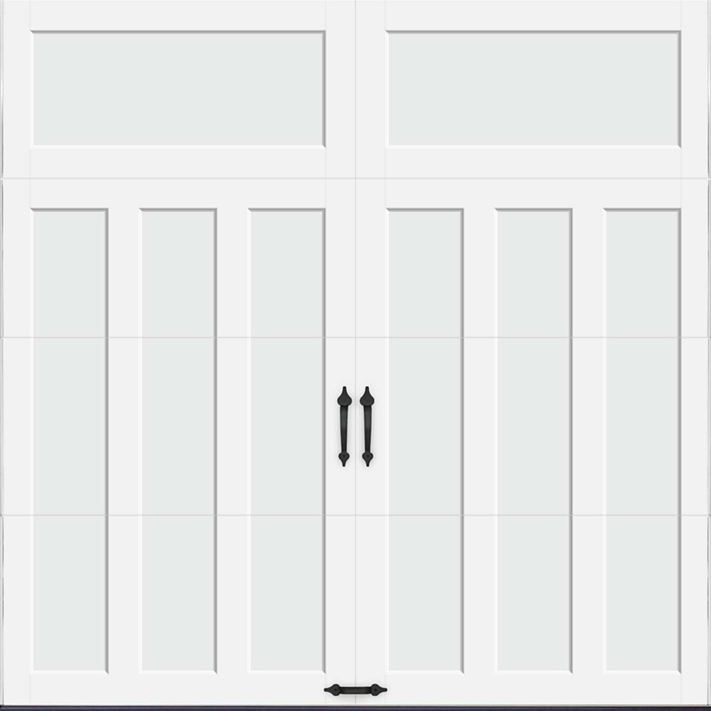 Coachman Collection 8 ft. x 8 ft. 18.4 R-Value Intellicore Insulated Solid White Garage Door