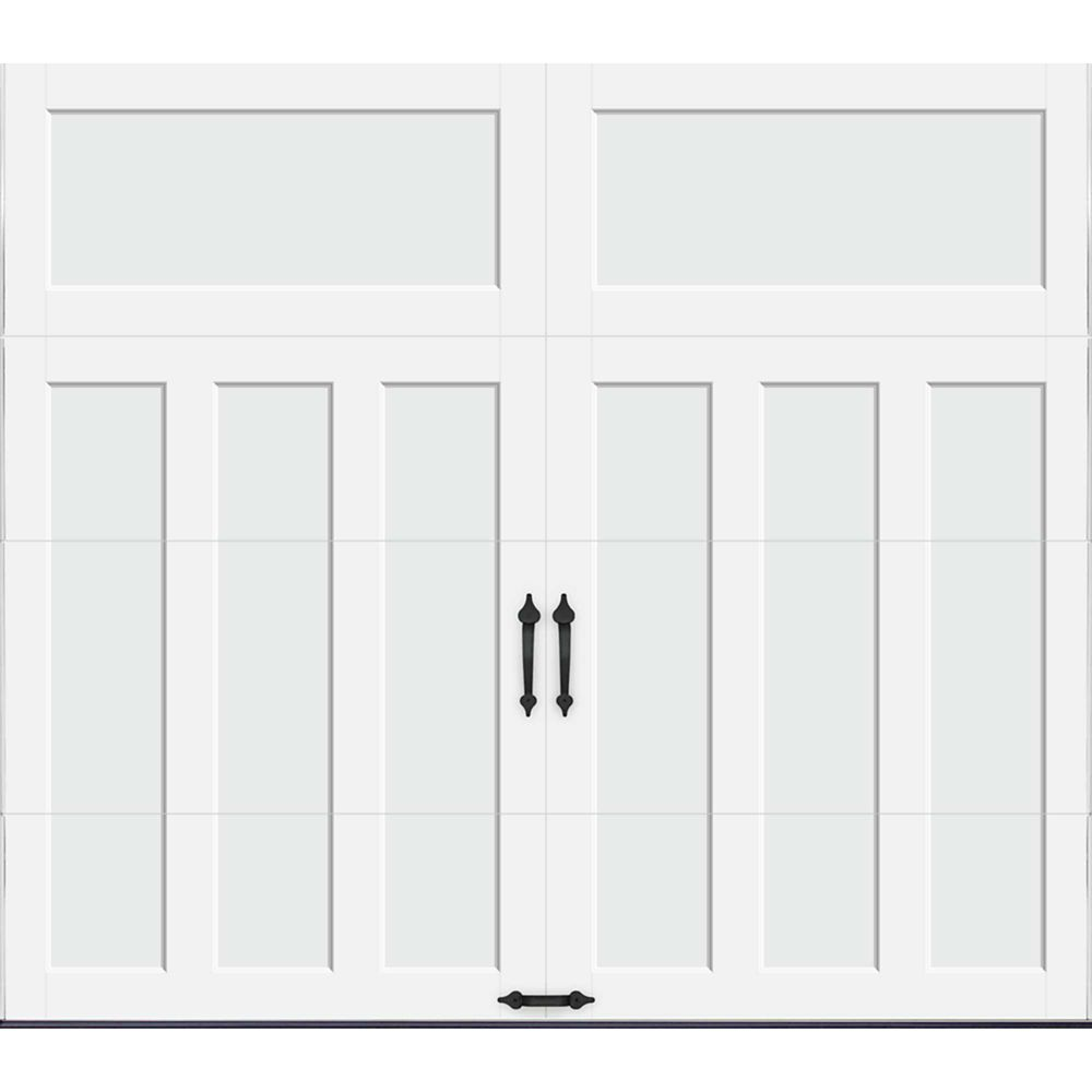Coachman Collection 9 ft. x 7 ft. 18.4 R-Value Intellicore Insulated Solid White Garage Door