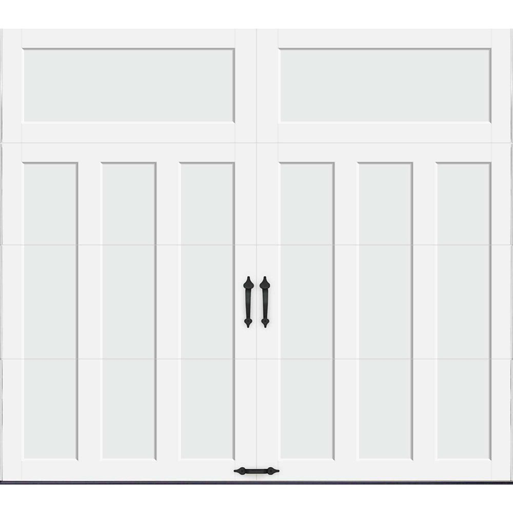 Coachman Collection 9 ft. x 8 ft. 18.4 R-Value Intellicore Insulated Solid White Garage Door
