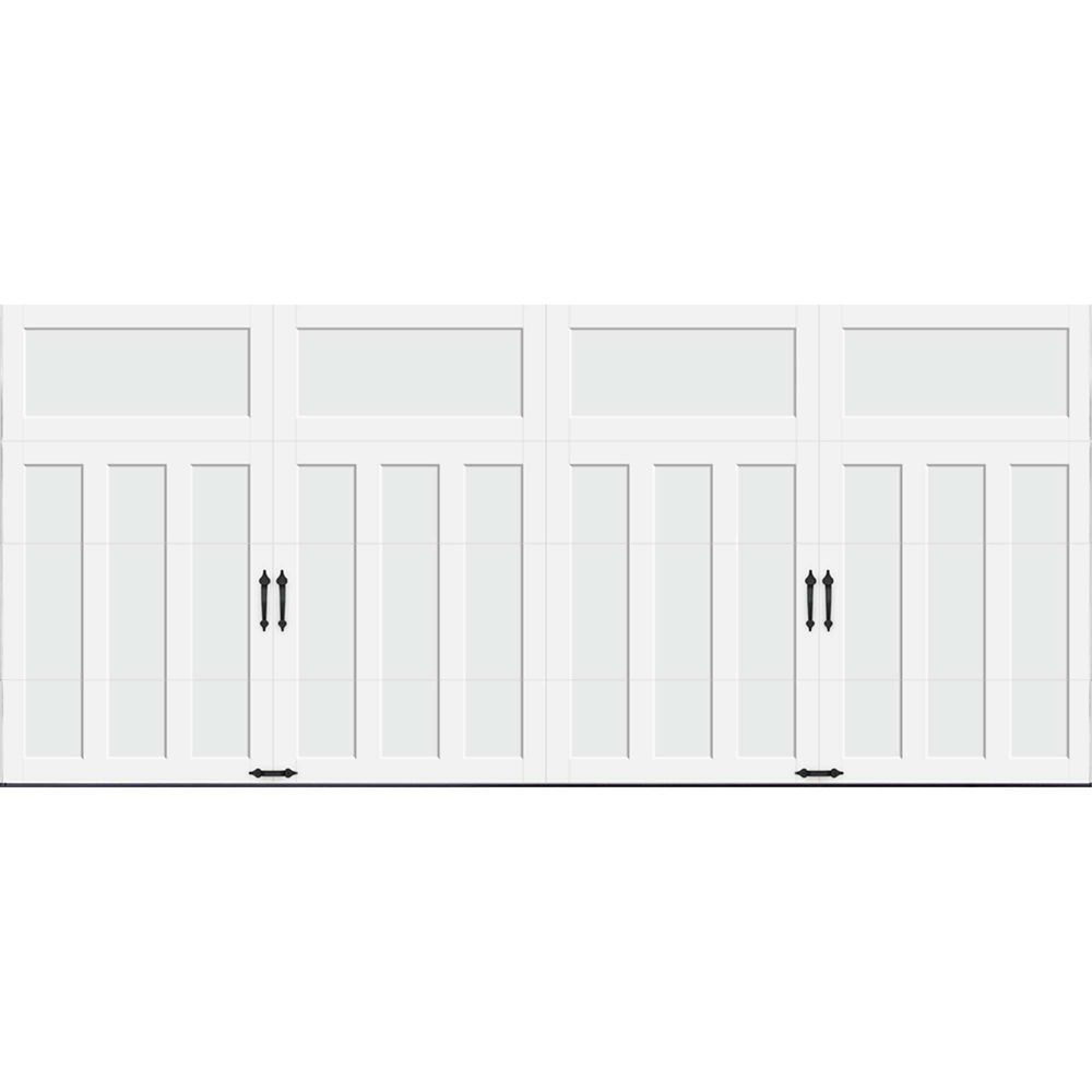Coachman Collection 16 ft. x 7 ft. 18.4 R-Value Intellicore Insulated Solid White Garage Door