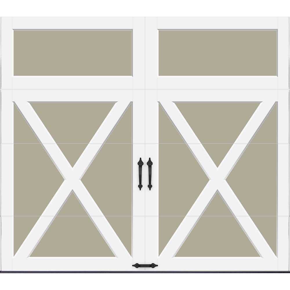Coachman Collection 8 ft. x 7 ft. Intellicore Insulated Solid Sandtone Garage Door