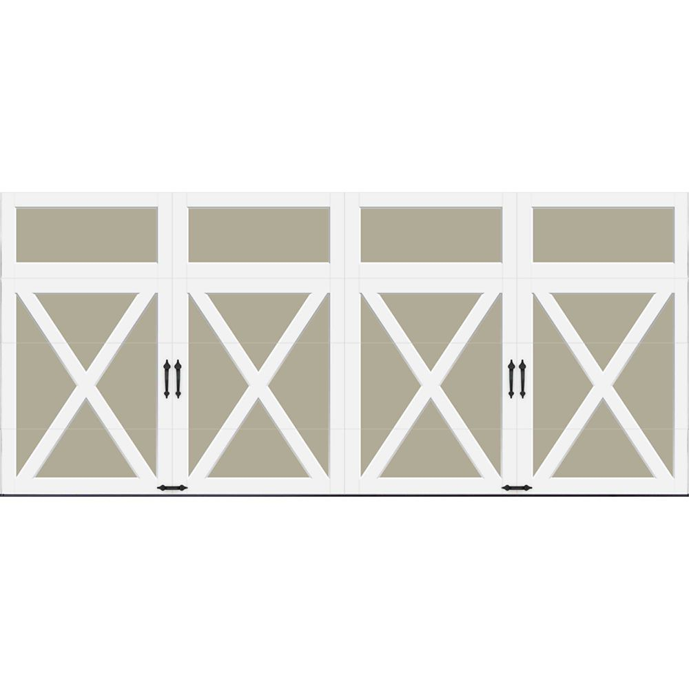 Coachman Collection 16 ft. x 7 ft. Intellicore Insulated Solid Sandtone Garage Door