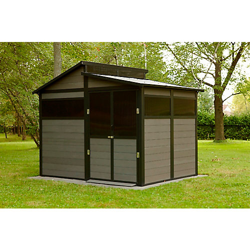 MONCTON 7'x10' - Grey Polywood Shed