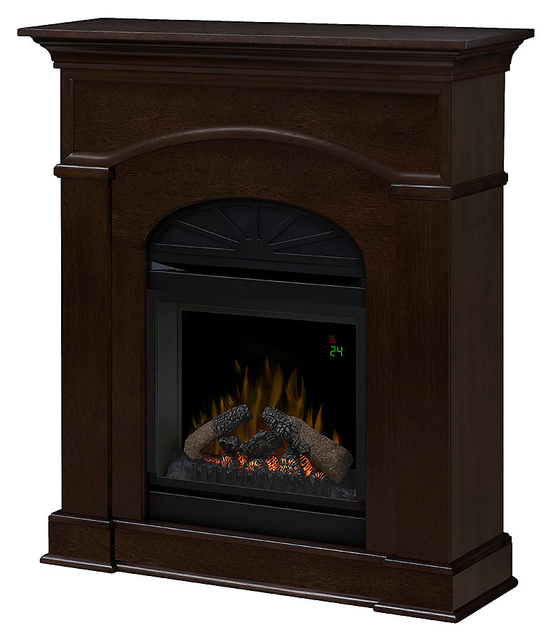 Surprising Bronte Electric Fireplace With 20 In Firebox With Remote In An Mocha Finish Home Interior And Landscaping Mentranervesignezvosmurscom