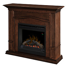 Theodore Convertible Electric Fireplace with 20 In. Firebox and Remote Control In a Mocha Finish