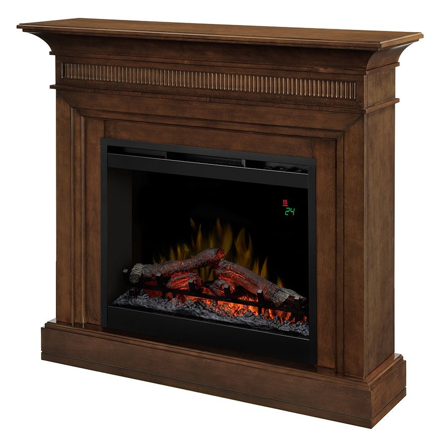 electric fireplace with 26 in firebox in a walnut finish the home