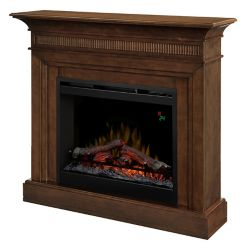 Dimplex Harleigh Electric Fireplace with 26 In. Firebox In a Walnut Finish
