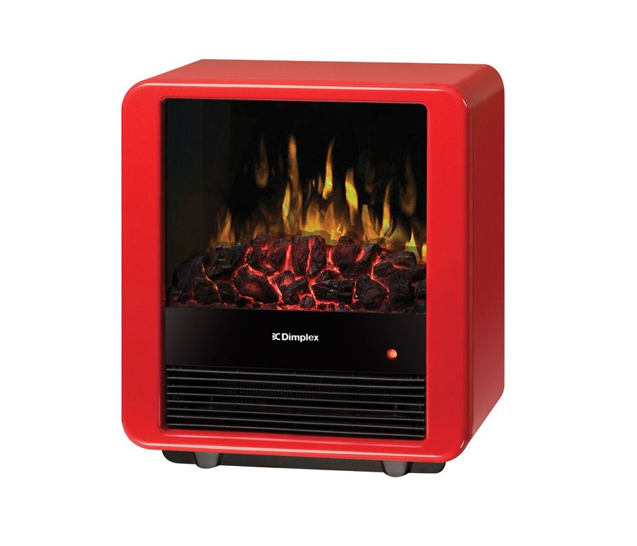Mini Cube Electric Stove In a Gloss Red Finish