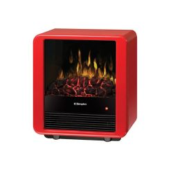 Dimplex Mini Cube Electric Stove In a Gloss Red Finish