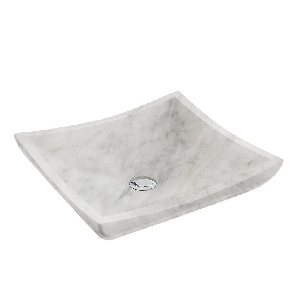 Avalon Vessel Sink in White Carrara