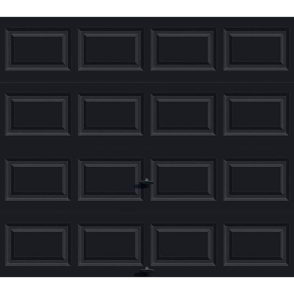 Premium Series 8 ft. x 7 ft. 12.9 R-Value Intellicore Insulated Solid Black Garage Door