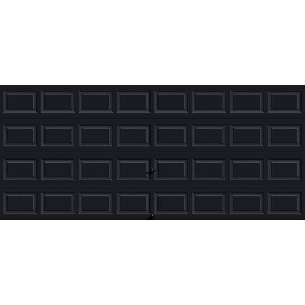 Porte de garage Série Première 16pi x 7pi Valeur R 12.9 isolée en polyuréthane Intellicore Avec...