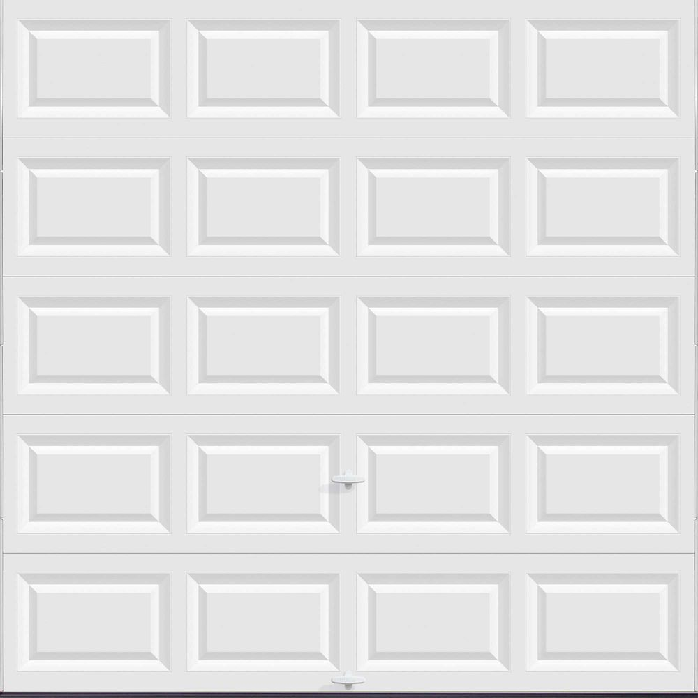 Value Series 8 ft. x 8 ft. Non-Insulated Solid White Garage Door